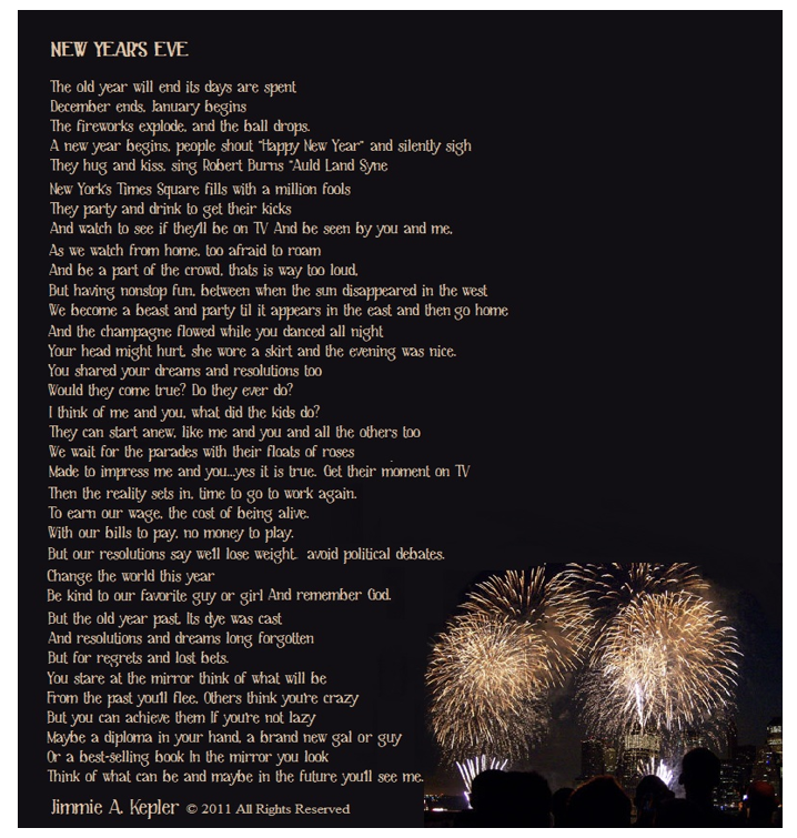 New Years Eve Poems