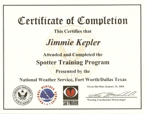 Skywarn Cert