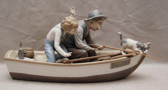 grandpa in boat
